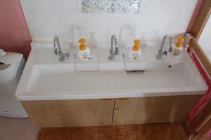 手洗い場も低い