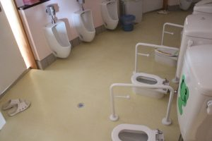 トイレも小さい